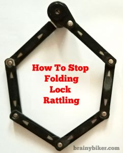 Read more about the article How To Stop A Folding Bicycle Lock From Rattling (2 simple tips + photos)