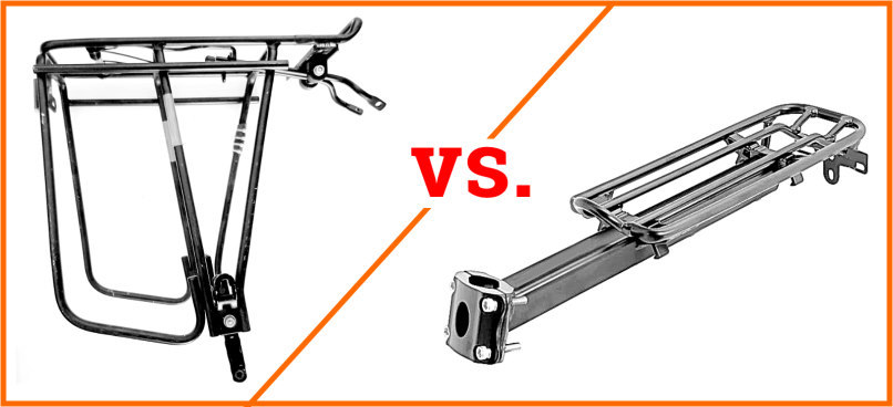 Read more about the article Seat Post Rear Racks vs. Frame Mounted Racks – Who's King?