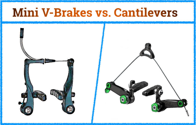 Read more about the article Mini V-Brakes vs. Cantilever Brakes – Advantages and Disadvantages Compared